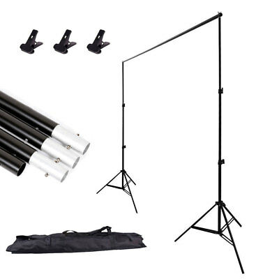 Photo Adjustable 2x 3m Background Support Stand Photo Backdrop Crossbar Kit