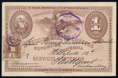 1895, Guatemala, P 6 u.a., Brief