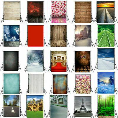 UK 7/5/3ft Studio Photo Photography Backdrop Wood Wall Floor Background Scenes