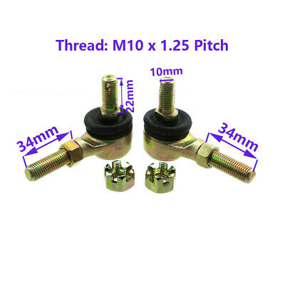 M10 Bolt Tie Rod Ends Ball For 110cc 125cc Quad ATV Go Kart Buggy YFZ350F
