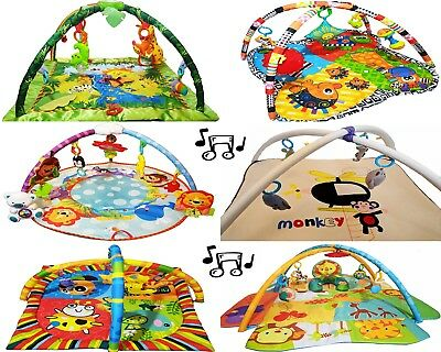 Baby Play Mat Gym Infant Floor Activity Play Mat  With Light & Sound Large Size