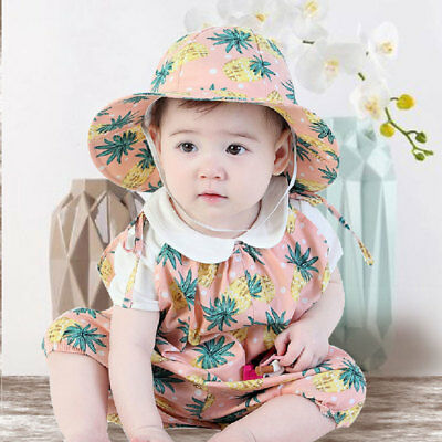 Baby Newborn Boy Girl Unisex Romper Jumpsuit Bodysuit Outfits Clothes With Hat W