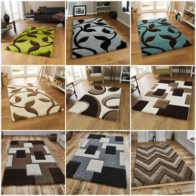Modern Hand Carved Small Extra Large Heavy Soft Shag Pile Fashion Rug By Think
