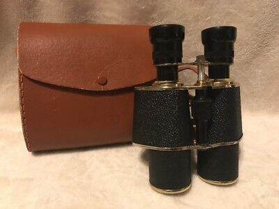 Vintage 5x35 Binoculars Harrison's Made In Japan 1950s? With Carrying Case