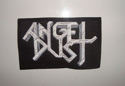 ANGEL DUST - LOGO Embroidered PATCH iRON Angel Helloween Sodom Kreator Rage