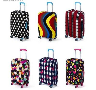 Suitcase Cover Protective Elastic Luggage Trunk Pattern Travel Dust Case Cotton