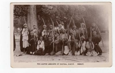 RED KAFFIR ARCHERS OF CHITRAL, N.W.F.P.: India postcard (JH3492)