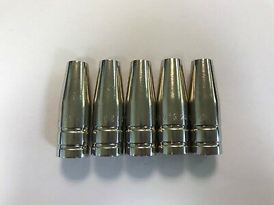 Genuine Binzel MIG Gas Nozzle MB15 Tapered (Pack 5) + FREE P&P