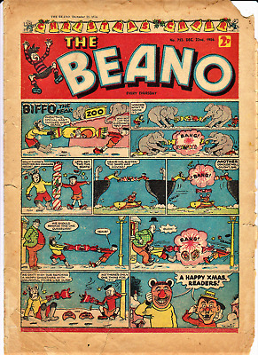 BEANO # 753 December 22nd 1956 issue comic The Christmas Xmas edition