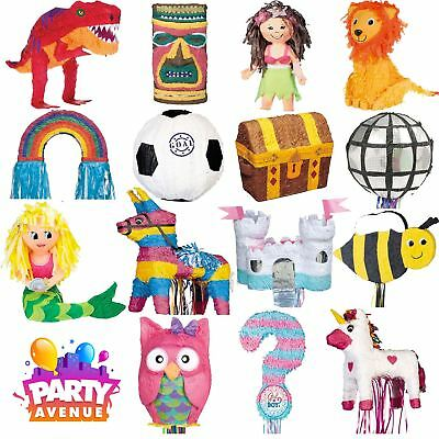 Assorted Pinata's Childrens Birthday Party Game Decorations