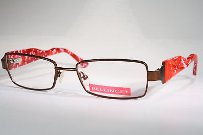 5697709449e New BELLINGER Danish Eyeglass Frames Glasses with Colorful Red Pink Wide  Temples