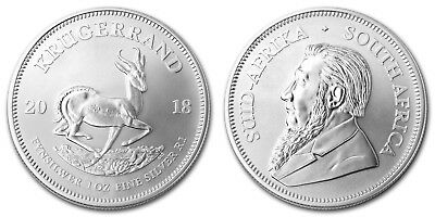 2018 1oz South African Krugerrand 1 ounce Silver Bullion Coin unc: