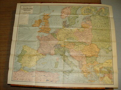 Antique Card'europa Edition Original After Guerre 14 /18 Old Map