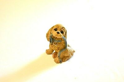 Great Gift for the miniature collector. Cocker Spaniel Sitting figurine, Vtg.
