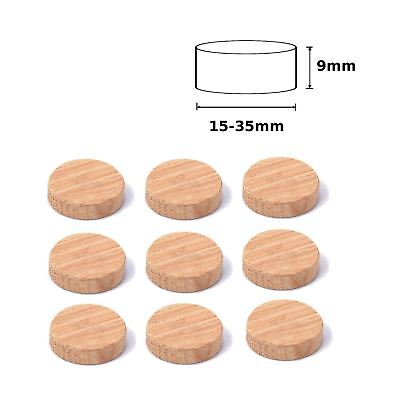 Flat Head Round Wood Dowel Plugs Oak ALL SIZES