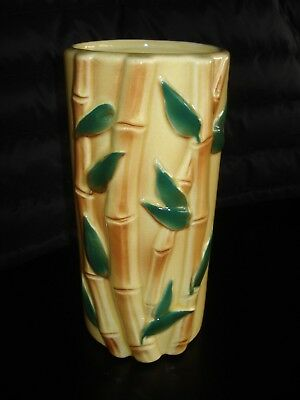 Vintage Ceramic Bamboo Vase Yellow Tall Royal Copley 999 Picclick