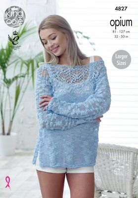 King Cole Knitting Pattern for Sweater and Top King Cole Opium KCP_4827