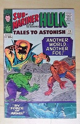 Marvel Comics Sub-Mariner And The Incredible Hulk # 73 November 1965
