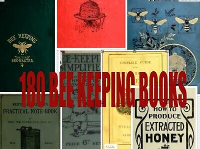 180 BEE KEEPING BOOKS Vintage Books DVD Honey Bees Hives Wax Apiary Bee Culture