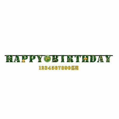 Army Camouflage Jumbo Letter Banner Kit Birthday Party Decorations