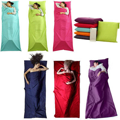 Silk Liner Sleeping Bag Hostel Camping Travel Inner Sheet Sleep Sack Backpack