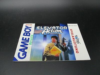 Elevator Action Game Boy Classic Spielanleitung Anleitung Manual