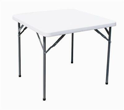 "Heavy Duty Square 34"" Folding Table Camping Picnic Banquet Party Garden Tables"