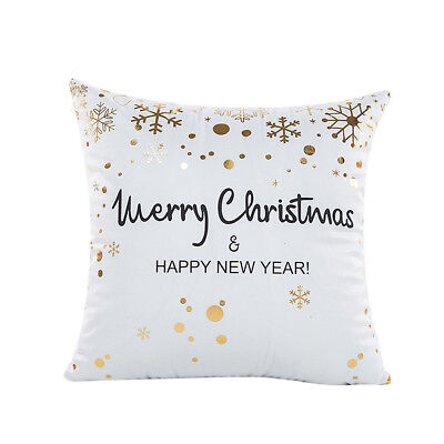 Cushion Cover Throw Pillowcase Car Sofa Waist Pillow Cover Christmas Decor G