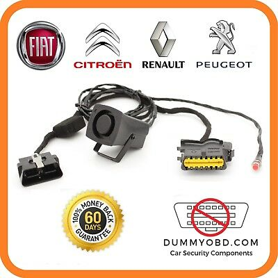FIAT RENAULT ABARTH DUMMY OBD PORT POWERED SIREN Anti Theft immo bypass security