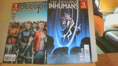 Occupy THE AVENGERS # 1 & UNCANNY INHUMANS # 15  Bagged/Boarded