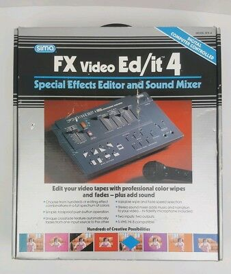 1992 SIMA FX Video Ed/it 4 Special Effects Editor & Sound Mixer Complete