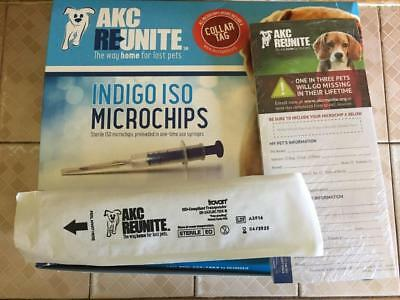 AKC Reunited Pet Microchip 134.2kHz ISO Standard With Tag Exp 2023/04 FREE SHIPP