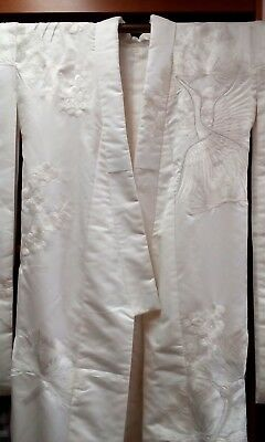 Japanese Wedding Kimono Uchikake Shiromoku Shinto Heavily Embroidered (CO80)