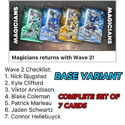 2018 MAGICIANS WAVE 2 COMPLETE SET OF 7 CARDS Topps NHL Skate Digital Card