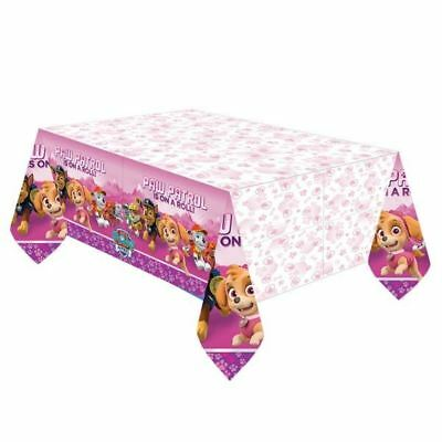 Paw Patrol Pink Girls Plastic Tablecover Childrens Birthday Party Tableware