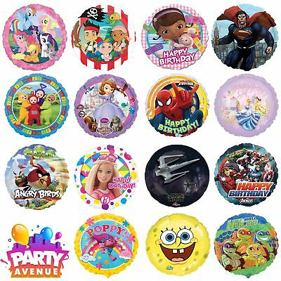 Licensed Round Balloon Disney DC Marvel Character Birthday Party Decorations