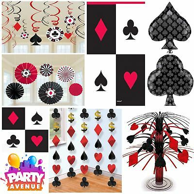 Place Your Bets Casino Las Vegas Party Cards Decorations Tableware Balloons