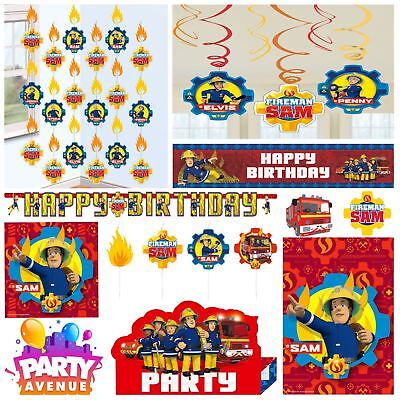 Fireman Sam Hero Childs Birthday Party Supplies Decorations Balloons Favours