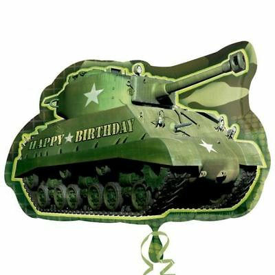 Army Camouflage Tank Super Shape Foil Balloon Birthday Party Decoration Military