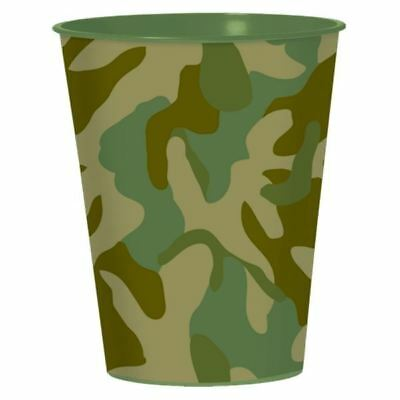 Army Camouflage Cup 473ml Birthday Party Favour cups Military Camo