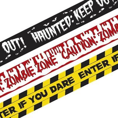 20 Ft Vampire Blood Bite Caution Tape Halloween Hanging Party Decoration