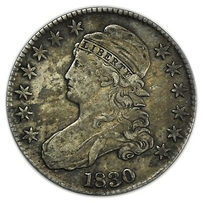 1830 Capped Bust Half Dollar, Large, Rare, Silver Coin, Early Type [3847.04]
