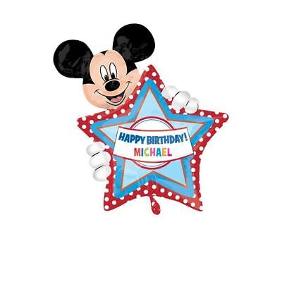 """Mickey Mouse Clubhouse Party Personalised Star Foil Supershape 30"""" Balloon"""