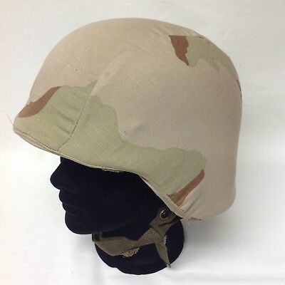 Army Helmet With Desert Camoflauge Cover