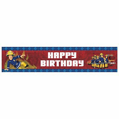 Fireman Sam Holographic Foil Banner Childrens Birthday Party Decorations