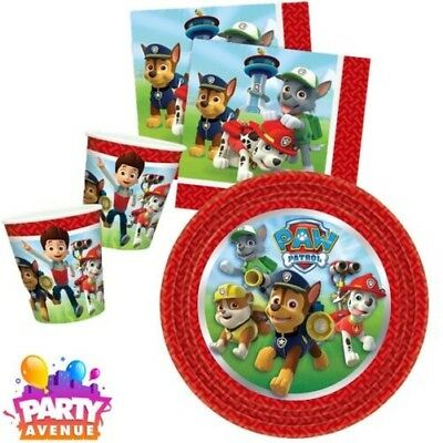 Paw Patrol Blue Boys Tableware Napkins Cups Plates