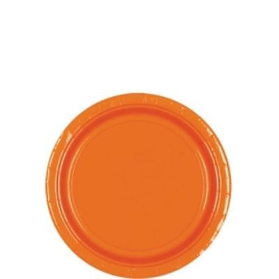 8pk Orange Peel Paper Plates Birthday Wedding Party Event Tableware