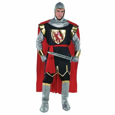 Adult Deluxe Crusader Knight Costume Mens Medieval Historical Fancy Dress