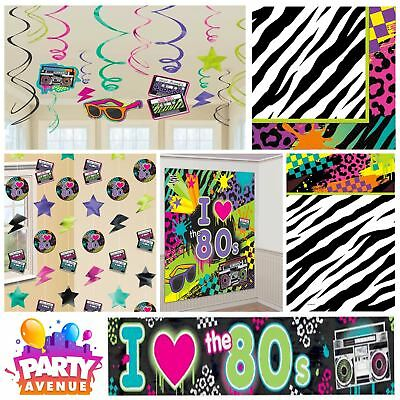 Totally 80's Party Retro 1980s Birthday Celebration Party Decorations Tableware