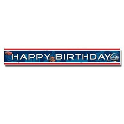 Disney Pixar Cars Happy Birthday 4.65m Foil Banner - Party Decorations & Bunting